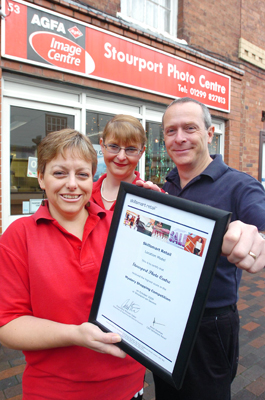 Mystery Shopper Award - Stourport Photo Centre