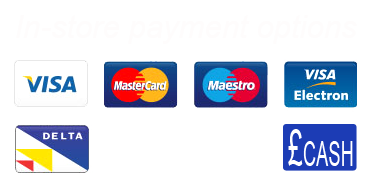 Stourport Photo Centre accepts Mastercard, Visa Debit, Delta, Connect, Visa,  Maestro and of course, good old CASH as methods of payment in-store.
